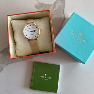 Kate Spade Watch with nude leather band
